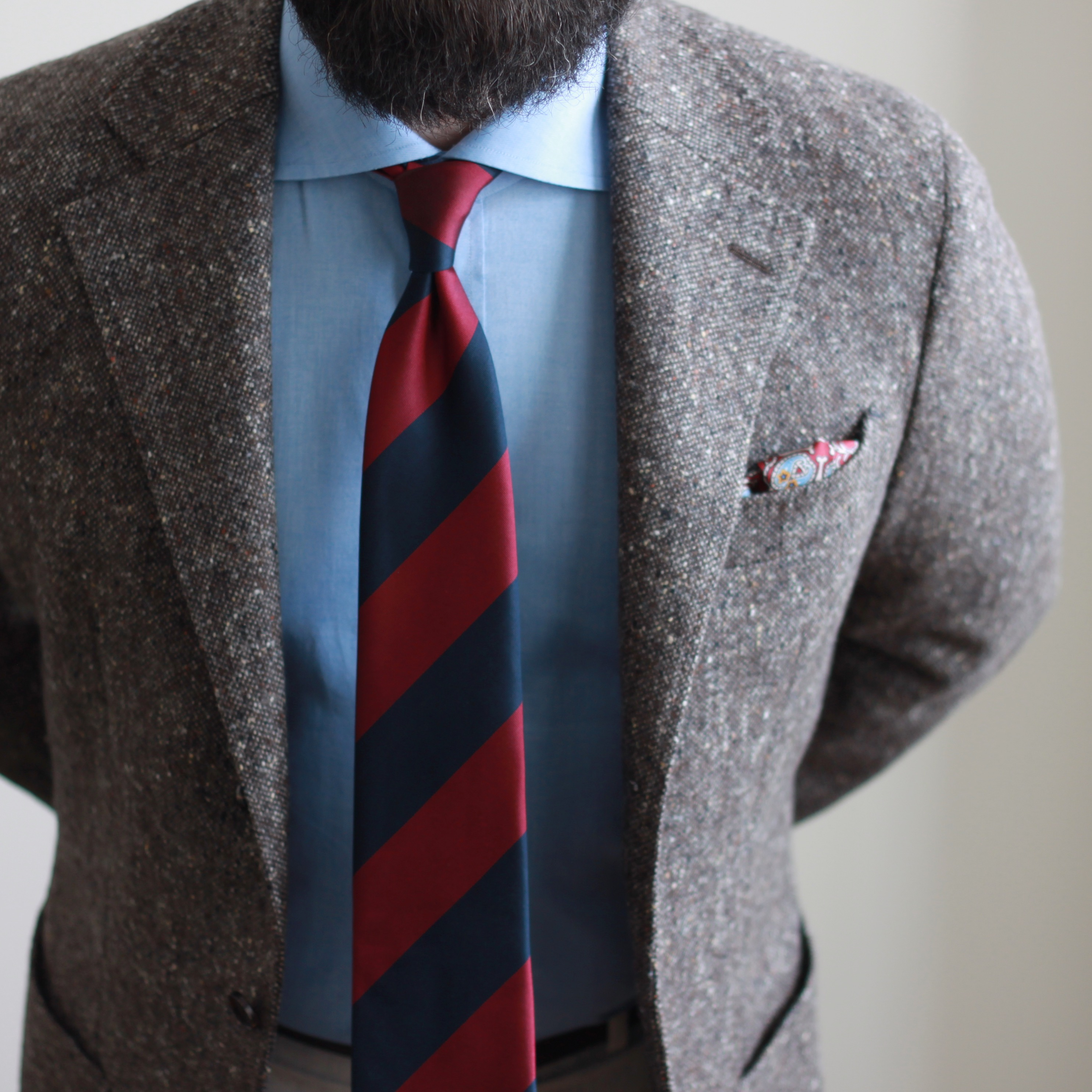 donegal, tweed, block stripe tie, what i wore, february 2018, outfit inspiration