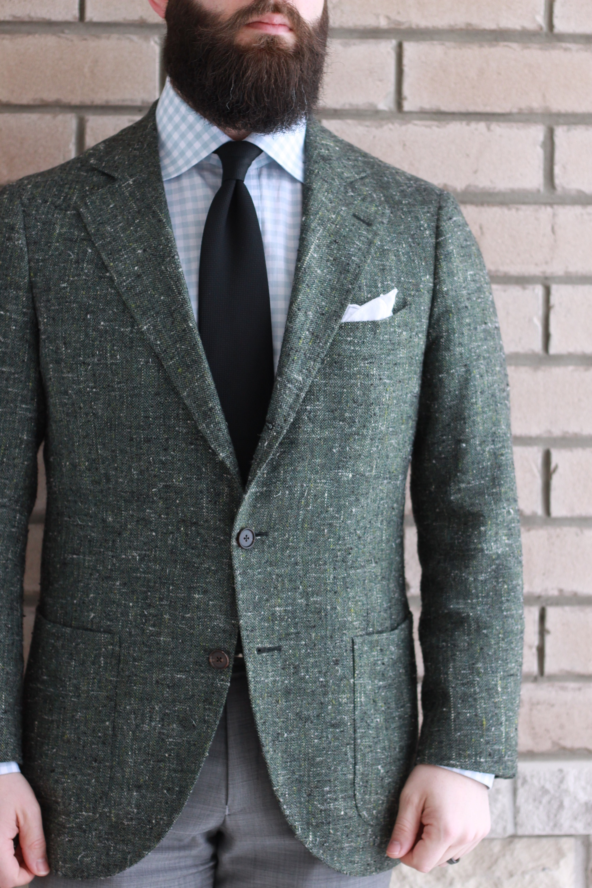 green slub, sport coat,odd jacket, what i wore, white pocket square, menswear