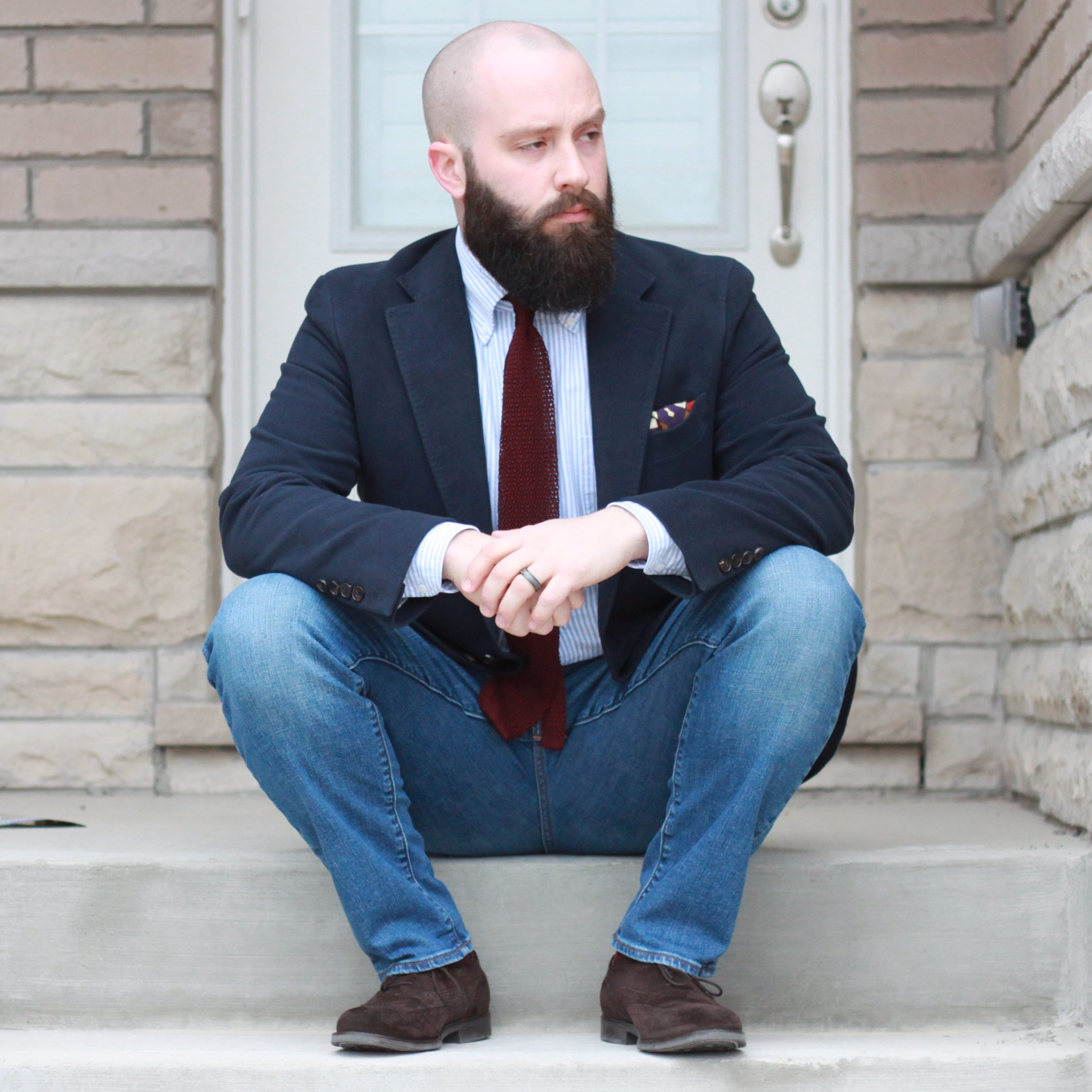 sport coat, jeans and tie, denim, menswear, insights, inspiration, smart casual, afterthesuit
