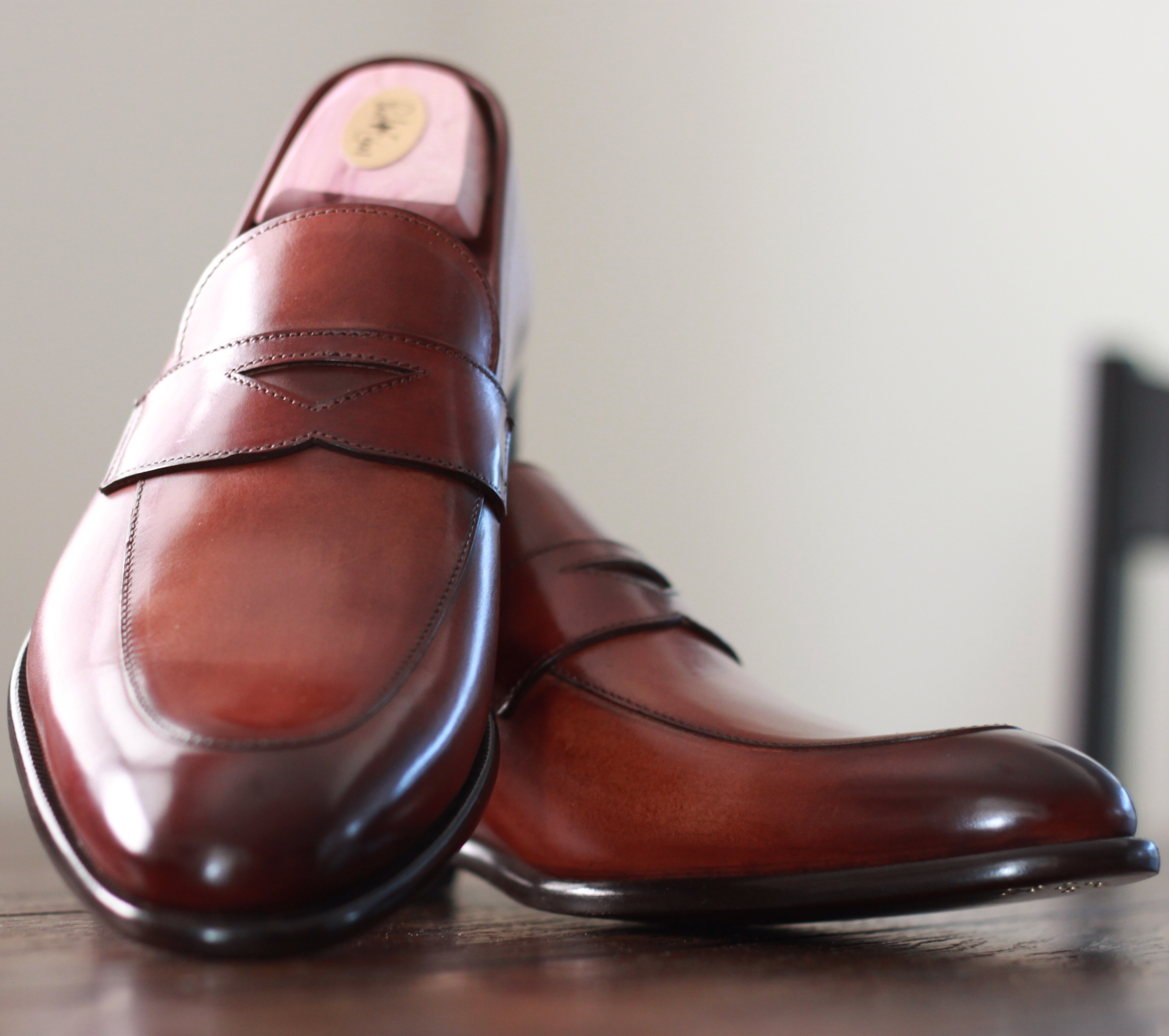 paul evans ny, loafers, penny loafers, havana brown, product review