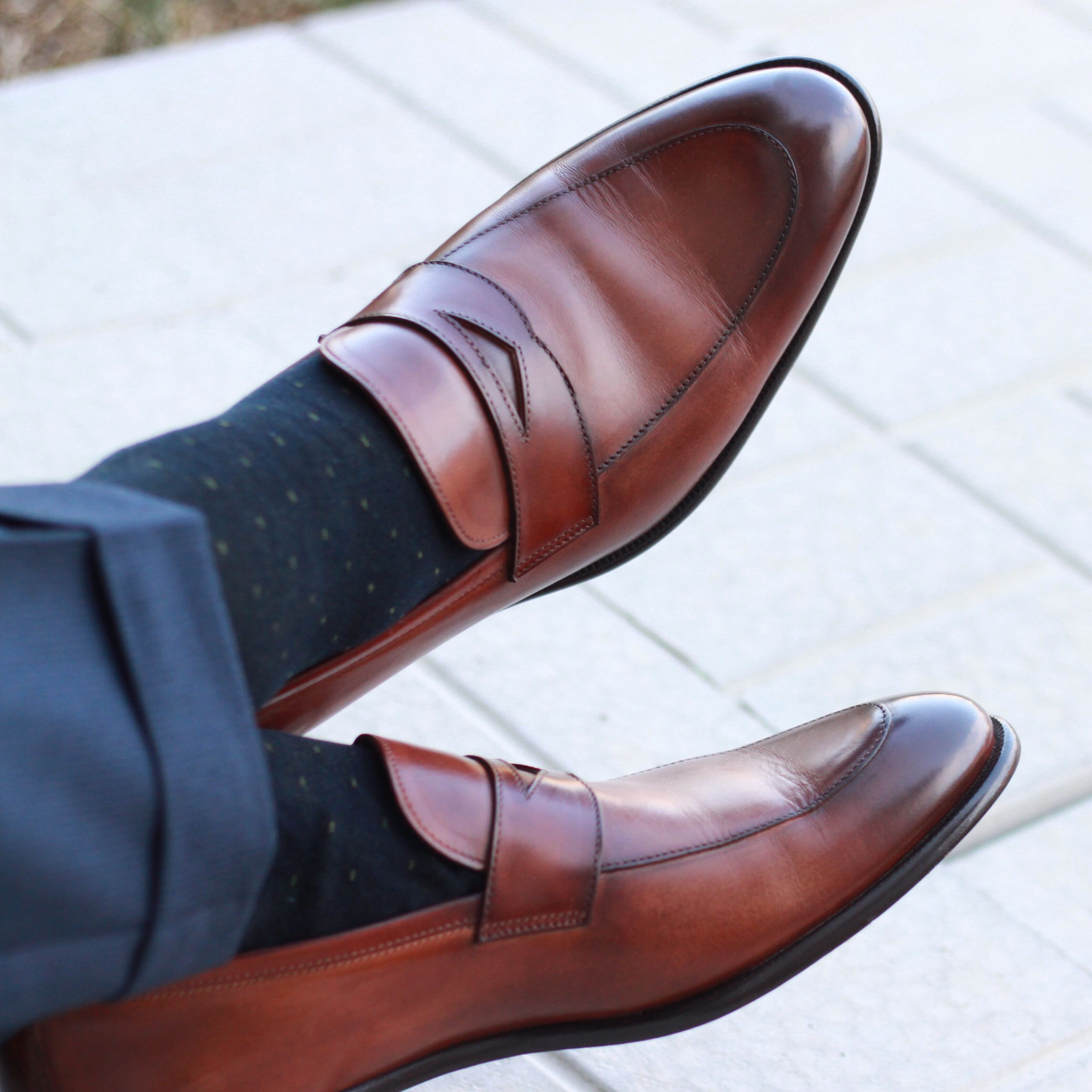 paul evans ny, paul evans ny review, loafer, havana brown, leather loafers