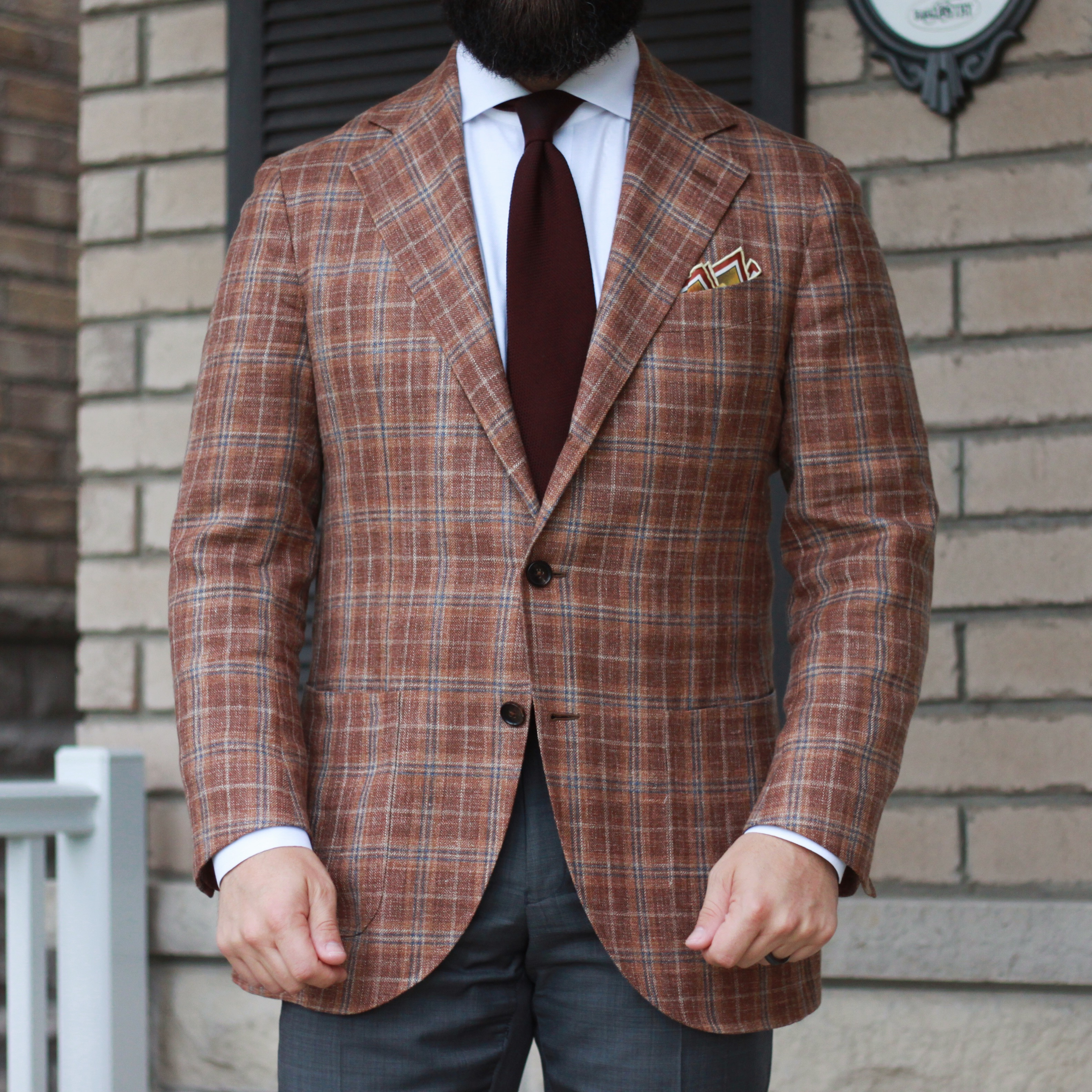 what i wore, spier and mackay, e. thomas, checked, sport coat, grenadine, mens accessories