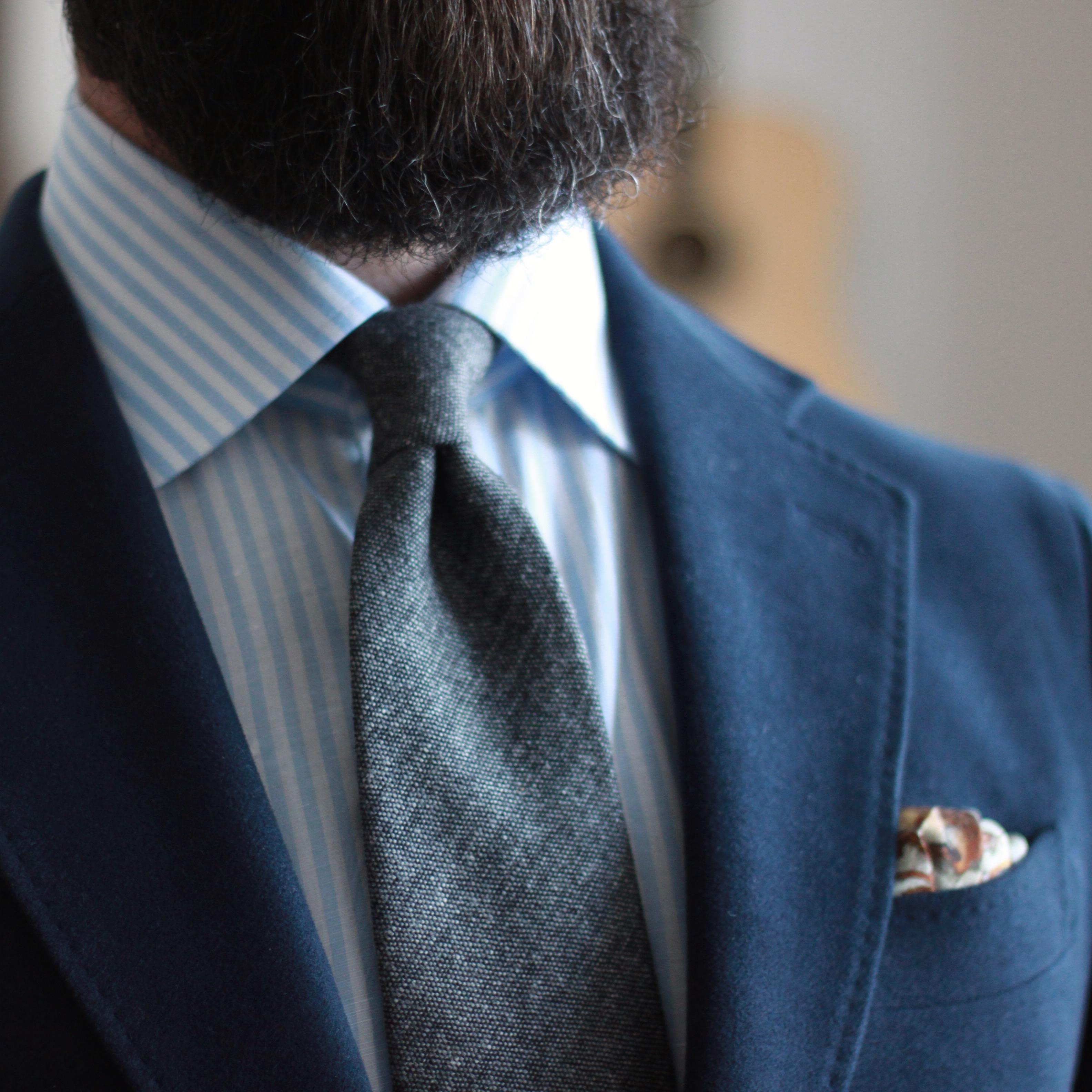 what i wore, mens accessories, oban stripe, donegal tie, spier and mackay, kent wang, pocket square, lod mosaic