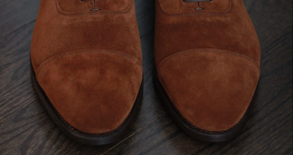 morjas review, cap toe, stitching, quality, medium brown suede, morjas