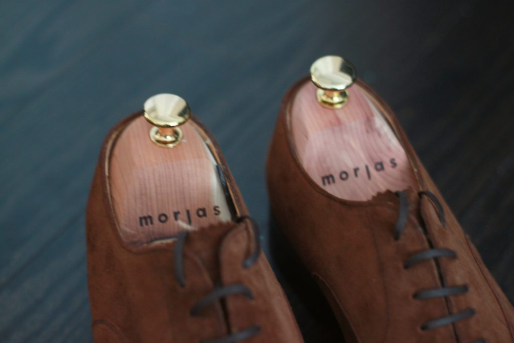 morjas, medium brown suede, oxford, shoe review, after the suit