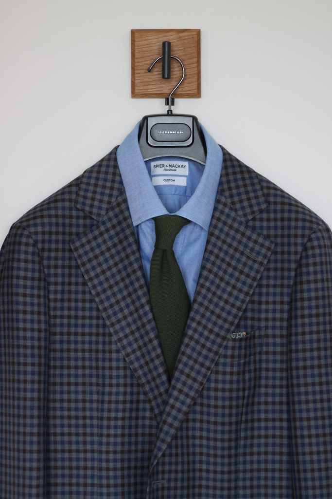 what i wore, dapper woodworks, green tie, guncheck, sport coat, chambray shirt