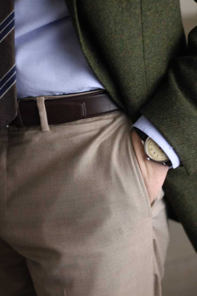 green tweed, vanda fine clothing, tie, pocket square, abraham moon & sons, flannels and tweed, after the suit, what i wore