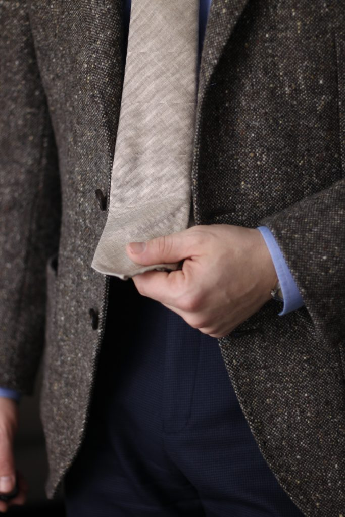 light brown herringbone, donegal sport coat, product review, oxford rowe review