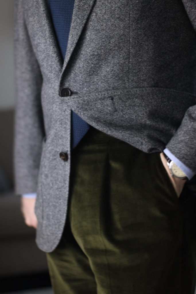 tweed, corduroy, review natalino, natalino trousers, natalino.co, olive corduroy