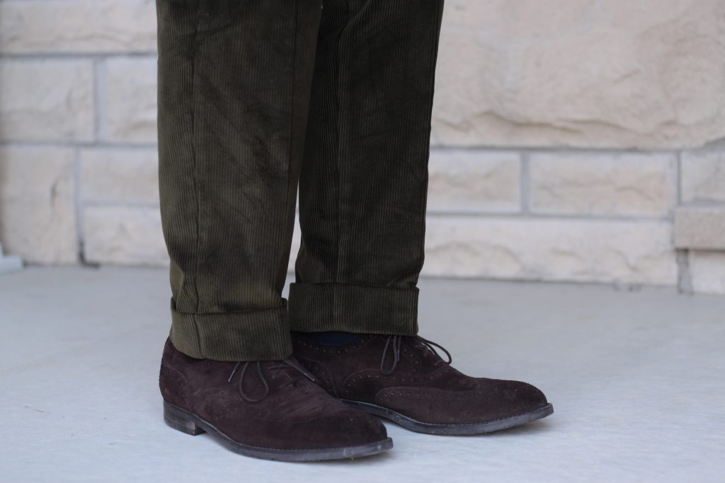 suede shoes, corduroy trousers, natalino trousers, natalino review, natalino.co, after the suit, review, menswear, classic menswear, smart casual