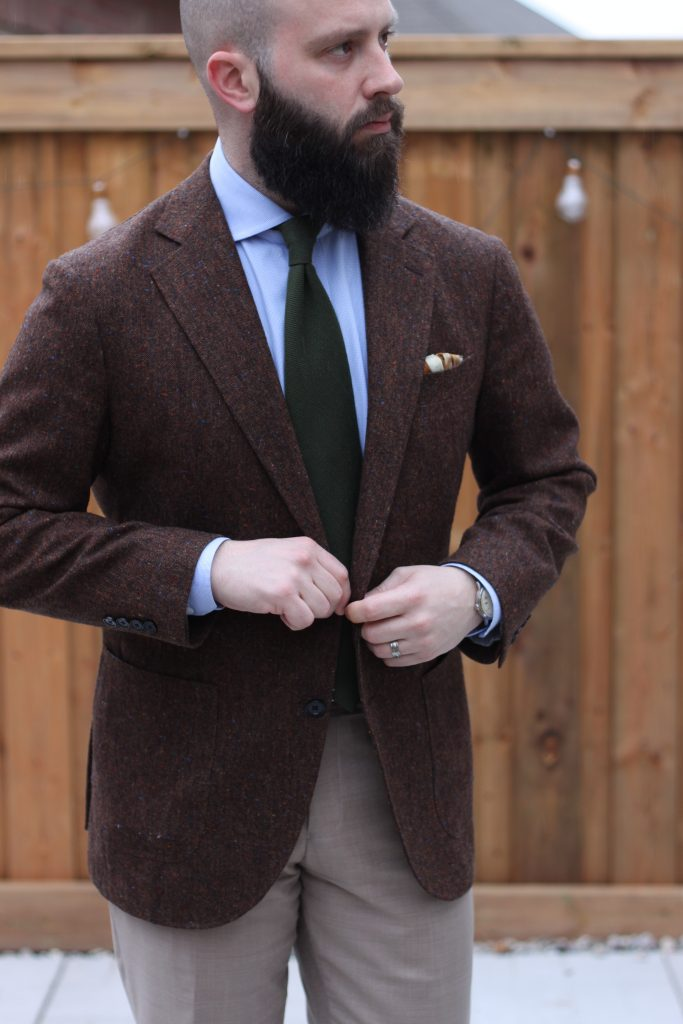 what i wore, orient watch, luxeswap, flannel, tweed, pocket square, after the suit
