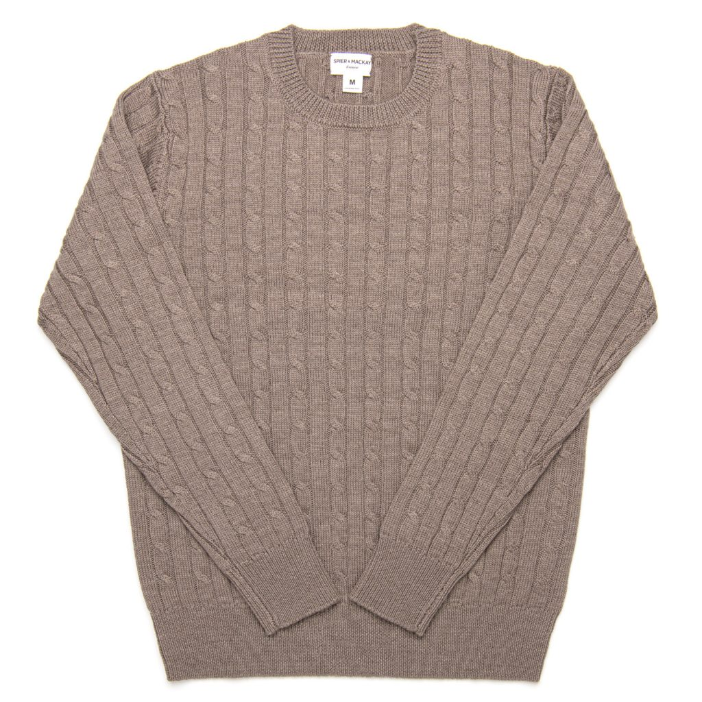 cable knit, sweater, merino wool, heavy, spier and mackay