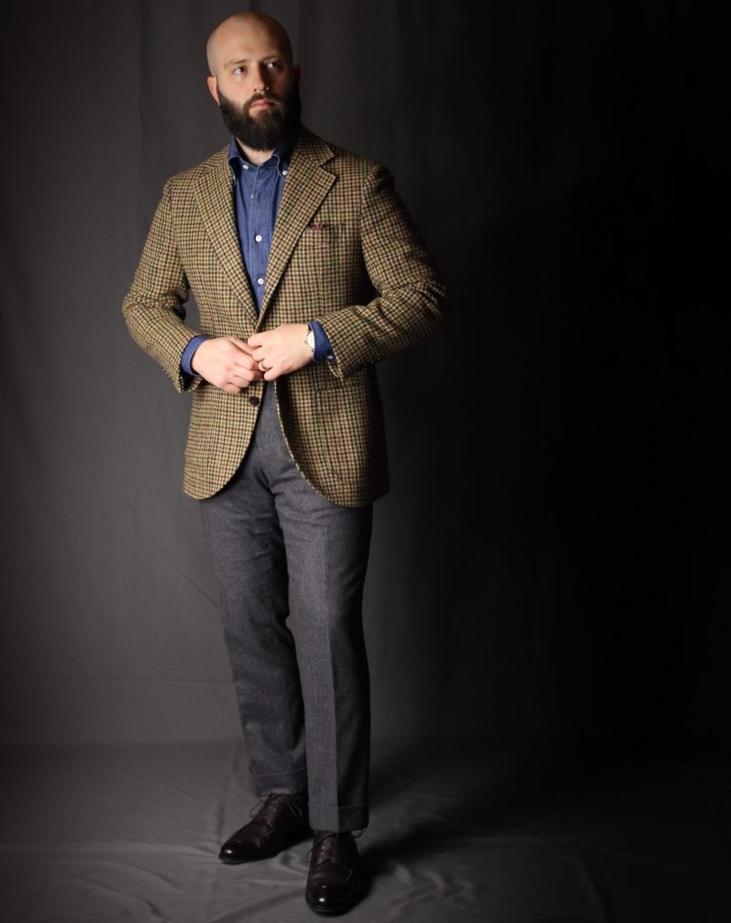 denim shirt, tweed jacket, besnard, after the suit, reviewed, besnard review, kaihara