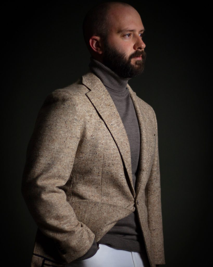 sport coat, what i wore, turtleneck, tonal, donegal, spier mackay, after the suit, corduroy