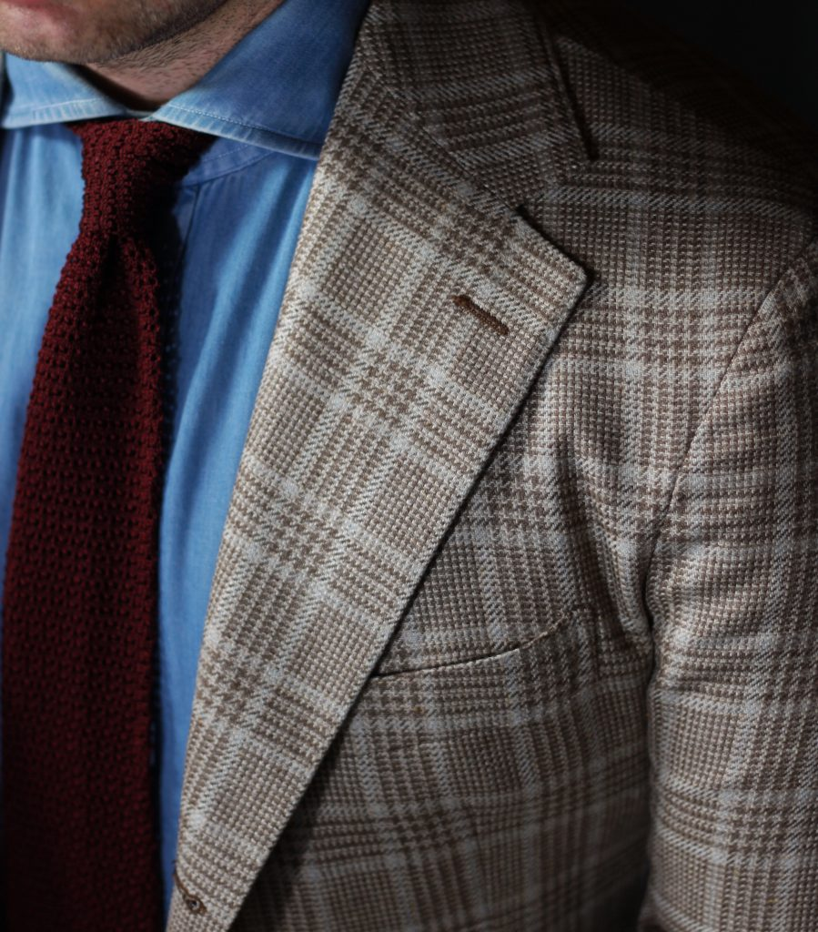 red and brown, cavour, brown check, denim shirt, spier and mackay, oxford rowe
