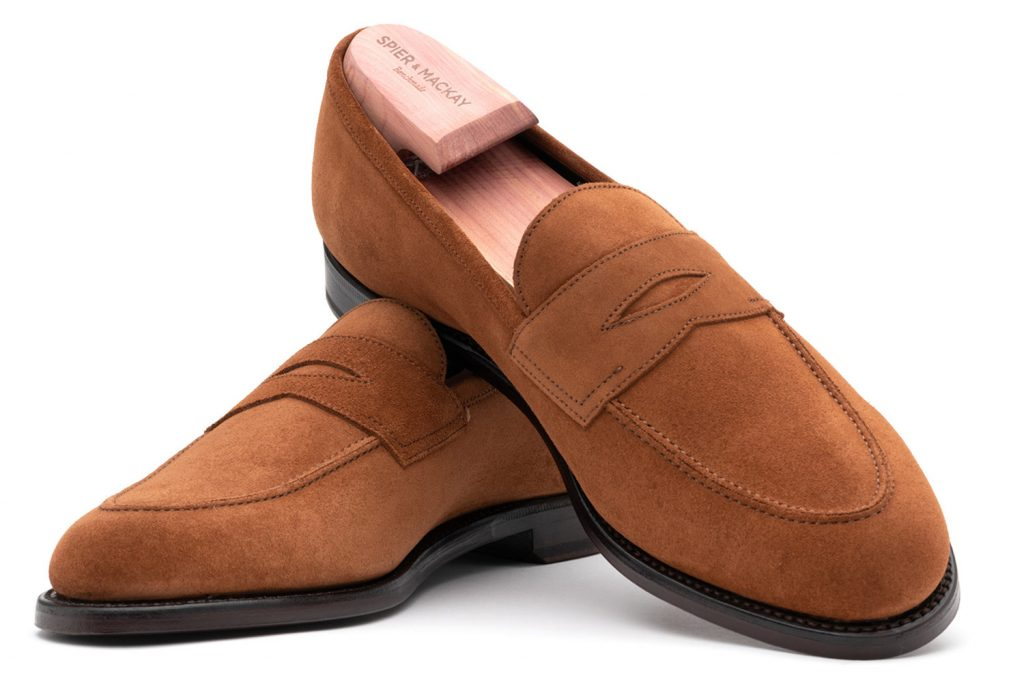 volpe, volpe suede, penny loafers, suede loafers, spier and mackay, after the suit