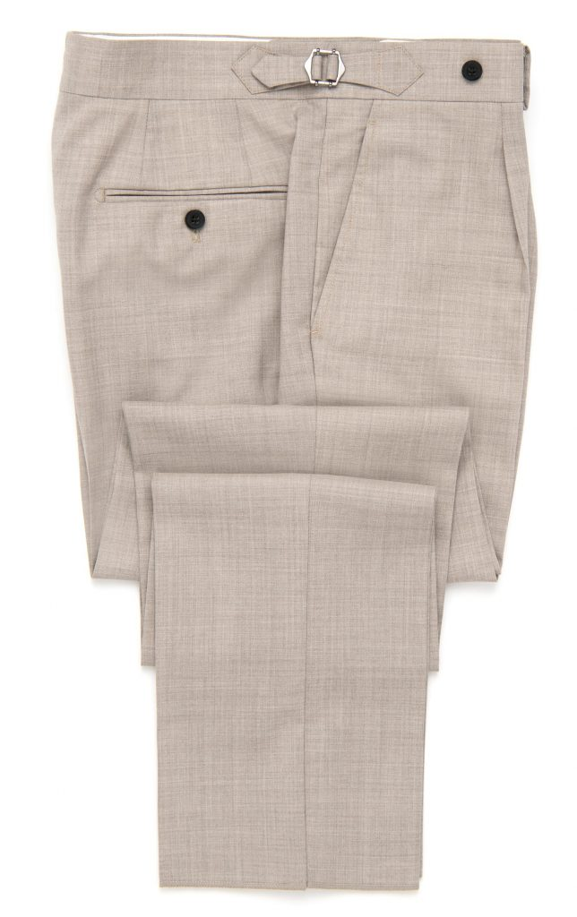 light brown fresco, high rise trouser, trousers, spier and mackay, after the suit