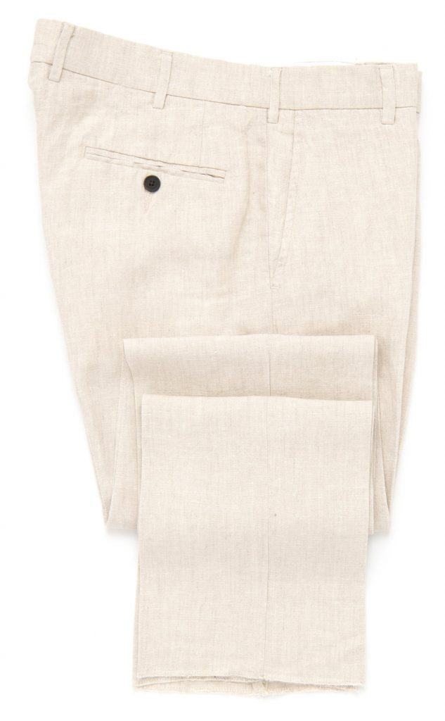natural linen trousers, trousers, new arrivals at spier and mackay, after the suit